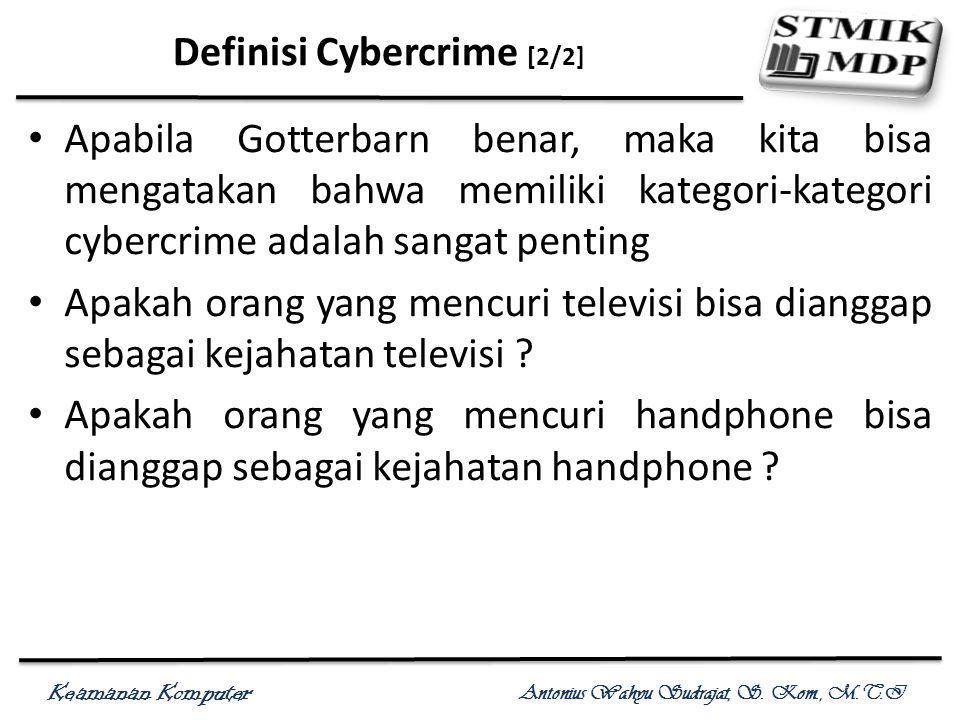 Definisi Cybercrime [2/2]